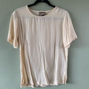 Eileen Fisher casual shirt sz XS/S ivory cream